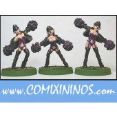 Dark Elves - Dark Elf Cheerleaders Set of 3 - Shadowforge