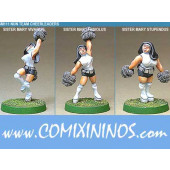 Humans - Nun Cheerleaders Set of 3 - Shadowforge