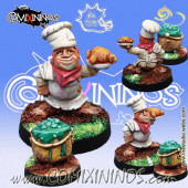 Halflings - Halfling Chef with Cauldron - Meiko Miniatures