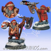 Dwarves - Christmas Snowman Slayer - Scibor Miniatures