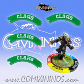 Set of 4 Green Claws Puzzle Skills for 32 mm Bases - Comixininos