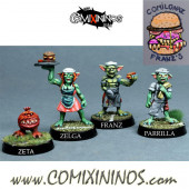 Goblins / Orcs - Comilonaz Fast Food Set of 4 Miniatures - NAW Miniatures