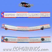 29 mm Range Ruler 1 mm Thick - Red and Blue - Spanish