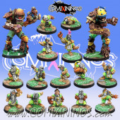Halflings - Complete Imperial Team of 16 Players with two Treemen - Willy Miniatures