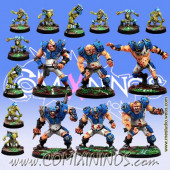 Ogres - Complete Ogre Team of 16 Players - Meiko Miniatures