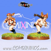 Dwarves - Wing Maidens Dwarf Ladies Runners Set of 2 – Warlord Games