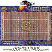 29 mm Pirate Plastic Gaming Mat with BB7 and Crossed Dugouts - Comixininos