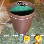 Leather Dice Cup - Brown