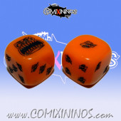 Set of 2d6 Orange Ogre Dice - Akaro