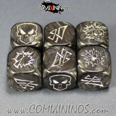 Set of 3 Dark Elf Block Dice - Black