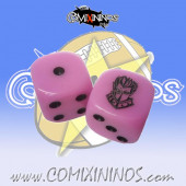 Set of 2d6 Elven Union Dice - SP Miniaturas