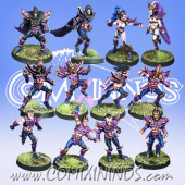 Dark Elves - Vicious Corsairs Dark Elf Team of 12 Players - Meiko Miniatures