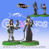 Dark Elves - Dark Elves Team Owner with Servant Set of 2 - Shadowforge