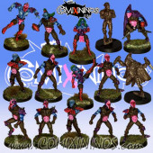 Dark Elves - Dark Elf Team of 15 Players - Uscarl Miniatures