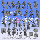Dark Elves - Occulte Predators Full Dark Elf Team of 25 Players and Markers - Games Miniatures
