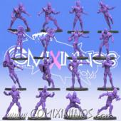 Dark Elves - Complete Dark Elf Team of 16 Players - SP Miniaturas