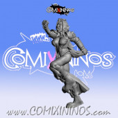 Dark Elves - Occulte Predators Linewoman A - Games Miniatures