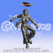 Dark Elves - Occulte Predators Linewoman B - Games Miniatures