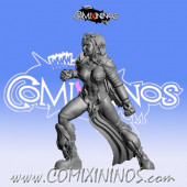 Dark Elves - Occulte Predators Linewoman E - Games Miniatures