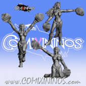 Dark Elves - Set of 3 Occulte Predators Cheerleaders - Games Miniatures
