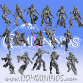 Dark Elves - Occulte Predators Complete Dark Elf Team of 16 Players - Games Miniatures
