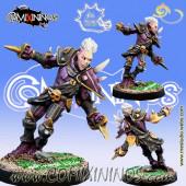 Dark Elves - Huvris Rathark Dark Elf Star Player - Meiko Miniatures