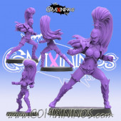 Dark Elves - Roxette Dark Elf Witch Star Player - SP Miniaturas