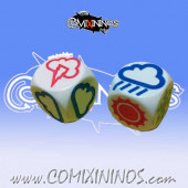 Set of 2 Meiko Weather Dice - White