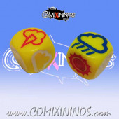 Set of 2 Meiko Weather Dice - Yellow