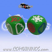 Set of 2 Meiko Weather Dice - Green