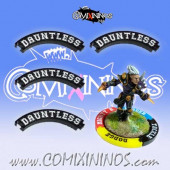 Set of 4 Black Dauntless Puzzle Skills for 32 mm GW Bases - Comixininos