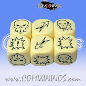 Set of 3 Meiko Block Dice - White