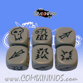 Set of 3 F.O.T. Block Dice - Grey