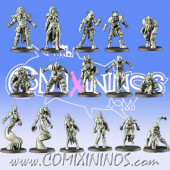 Undead - Deadly Bones Base Team of 16 Players - Games Miniatures