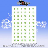 Number Decal Template nº 1 - Green