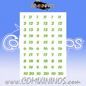 Number Decal Template nº 10 - Green