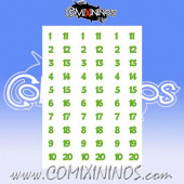 Number Decal Template nº 12 - Green