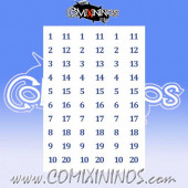 Number Decal Template nº 13 - Blue