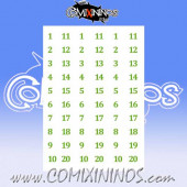Number Decal Template nº 13 - Green