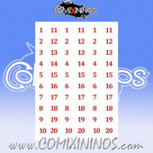 Number Decal Template nº 13 - Red