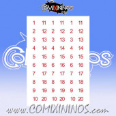 Number Decal Template nº 15 - Red