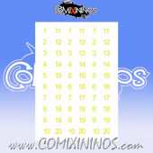 Number Decal Template nº 15 - Yellow