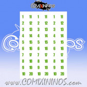 Number Decal Template nº 4 - Green