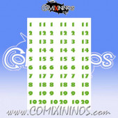 Number Decal Template nº 5 - Green