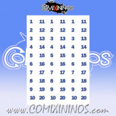 Number Decal Template nº 6 - Blue