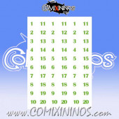 Number Decal Template nº 8 - Green