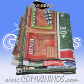 34 mm Basic Synthetic Cloth Canvas Gaming Mat with Double Stitched Seam - Comixininos