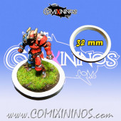 Skill Marker - White Rubber Deluxe Ring for 32 mm Bases - Comixininos