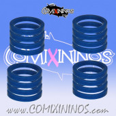 Skill Markers - Set of 16 Blue Rubber Deluxe Rings for 25 mm Bases - Comixininos