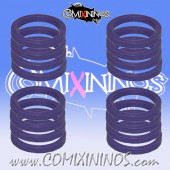 Skill Markers - Set of 16 Purple Rubber Deluxe Rings for 25 mm Bases - Comixininos